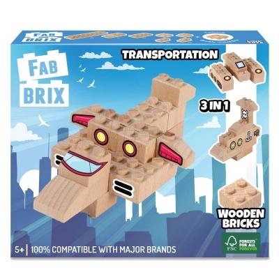 Fab Brix - Transportes 16 Peças