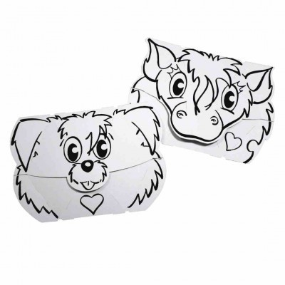 Masque chien et poney - Carte