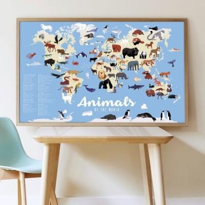 Poster Gigante - Animais do Mundo