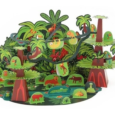 Floresta Tropical - Brinquedo de Papel