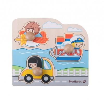 Puzzle Carro, Avião e Barco