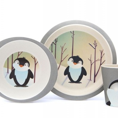 Set Pratos Pinguin