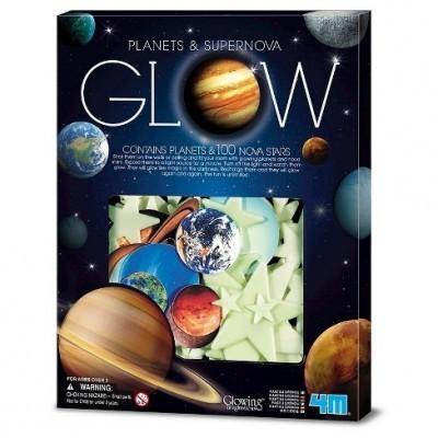 100 Planetas e Novas (brilha no escuro)