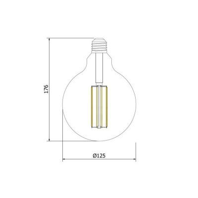 Lâmpada LED E27 Filamento Reflect Supreme G125 6W