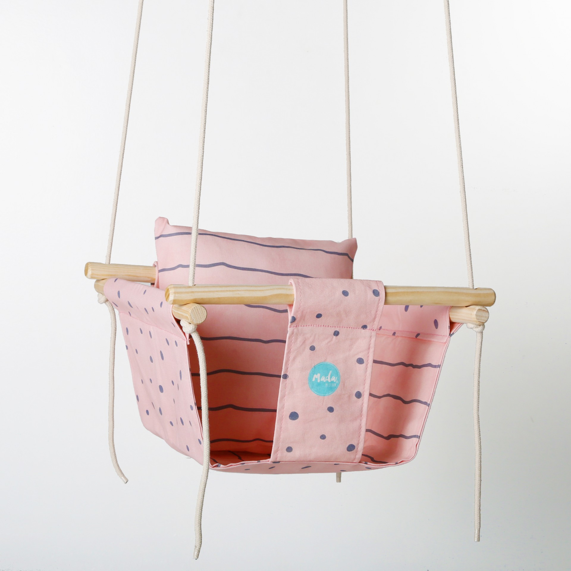 Pink Dots Baby Swing