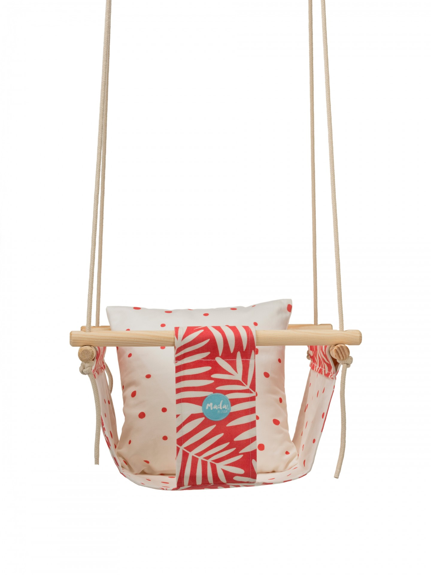 Pink Leafs Baby Swing