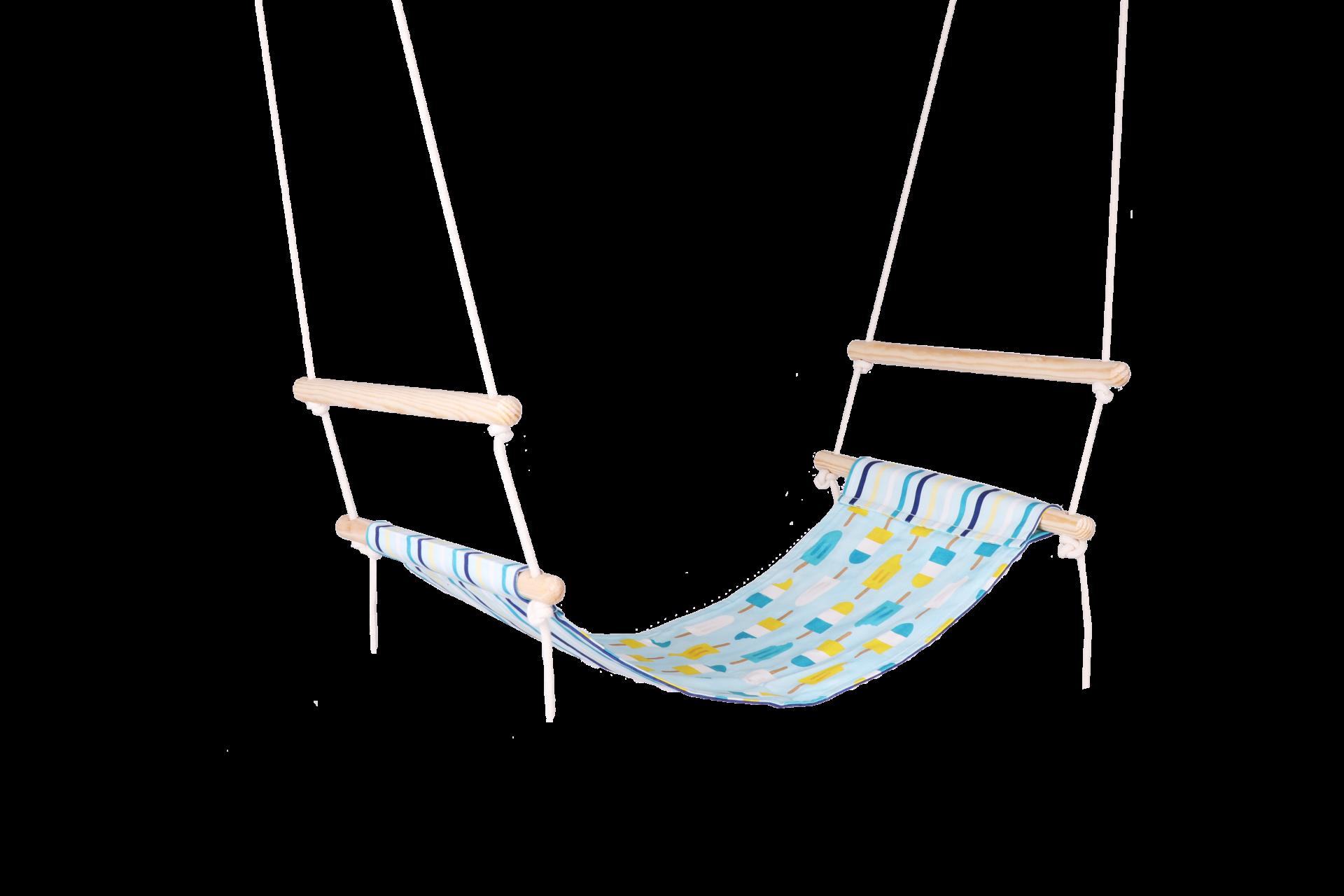 Blue Popsicle & Blue Stripes Simple Swing