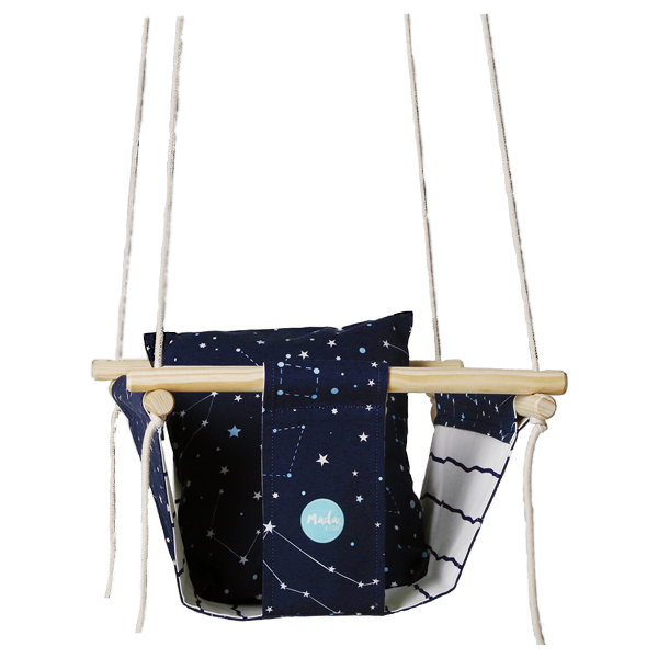 Blue Constellations Baby Swing