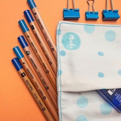 Blue Hummingbird - Small Pencil Case