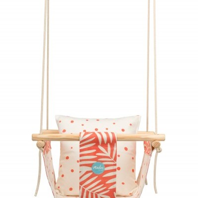 Orange Leafs Baby Swing