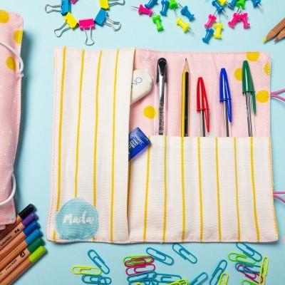 Sweet Pink Dots Pencil Casa - Small