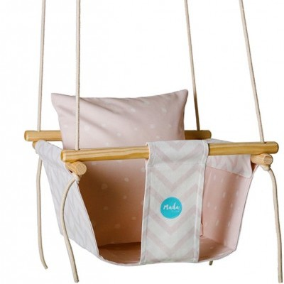 Soft Pink Baby Swing