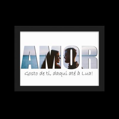 Print Amor/Love - Amor daqui até à Lua