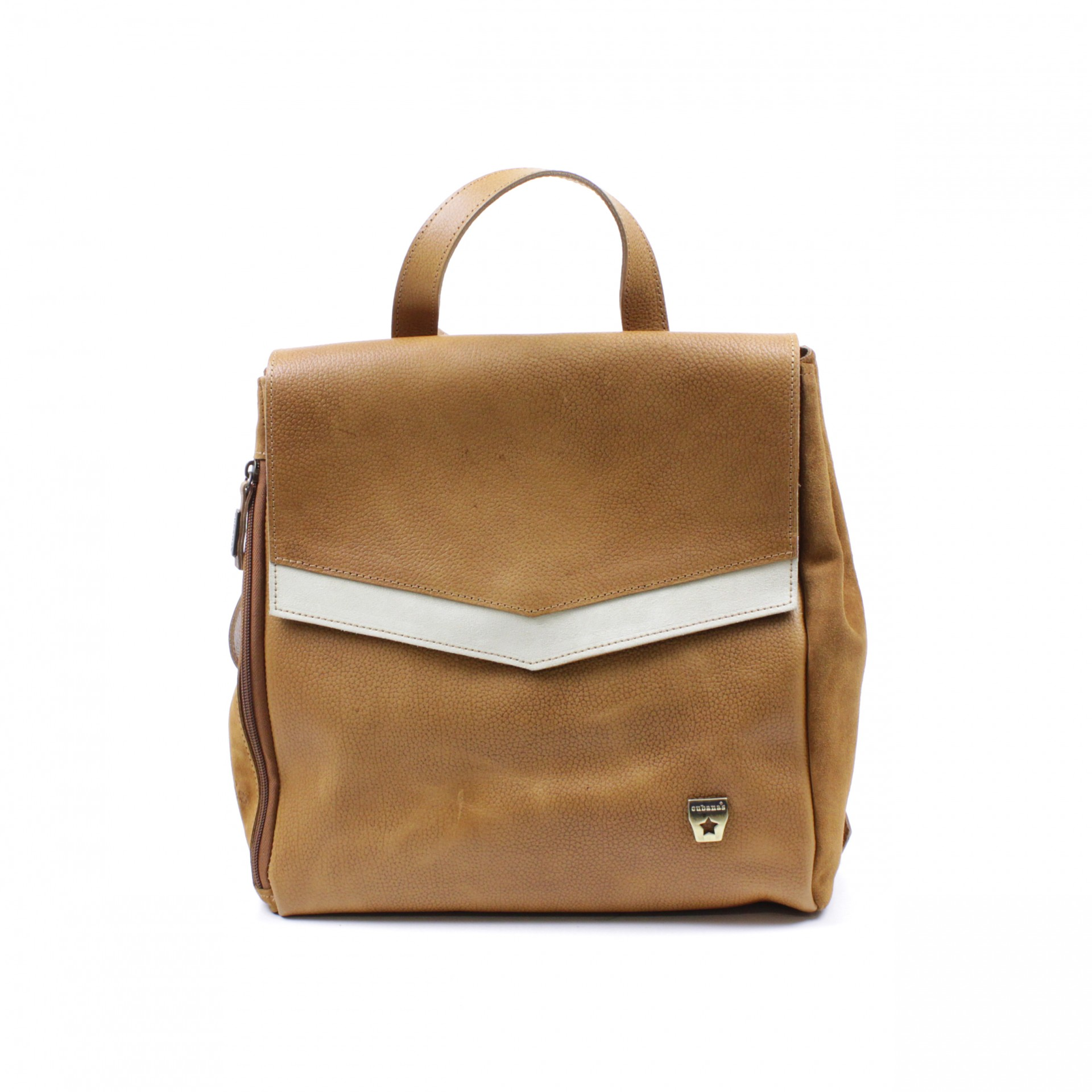 BACKPACK CUBANAS RACHAEL100 LIGHT BROWN