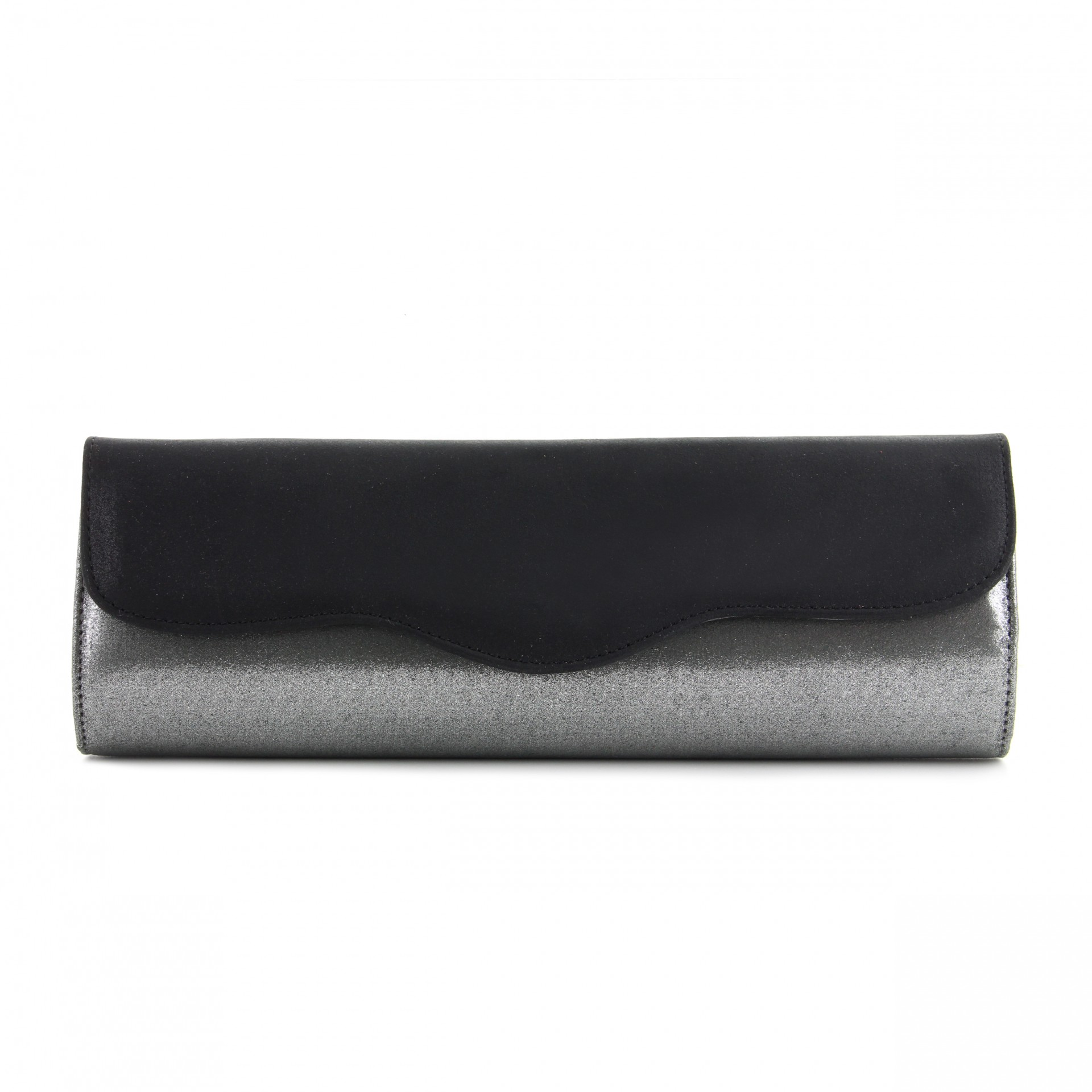 CLUTCH MADE IN MI1597 NEGRO/PLOMO