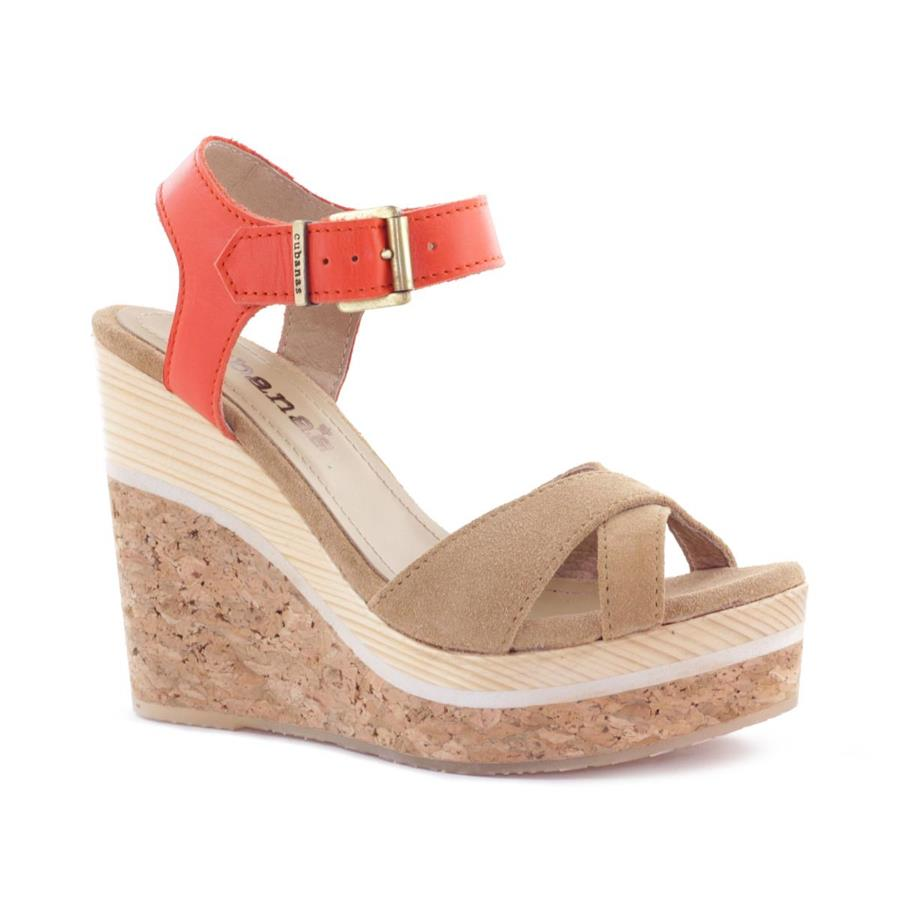 SANDALIA CUBANAS STELA110 TAN+ORANGE