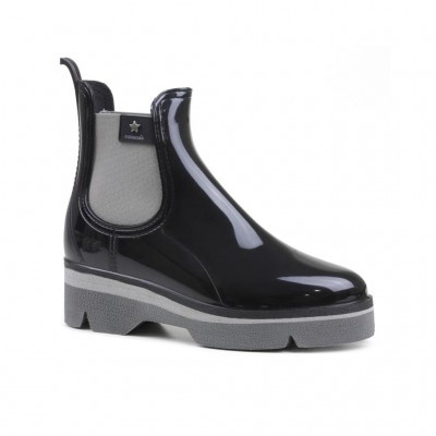 RAINYBOOT CUBANAS DERBY210 BLACK+GREY