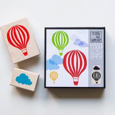 Stamp Cloud and Ballon | Carimbo nuvem e balão