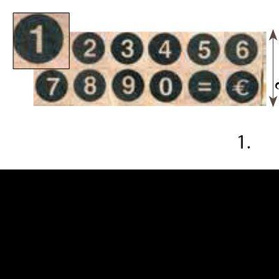 Set Stamp Number Bold | Carimbos numéricos