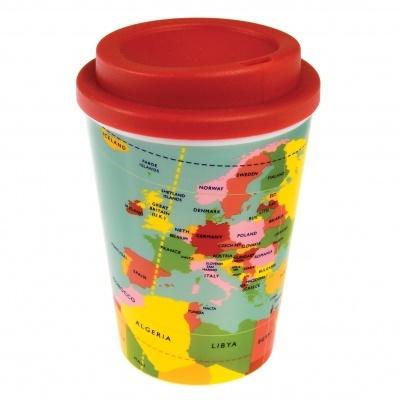 World Map Coffee Cup