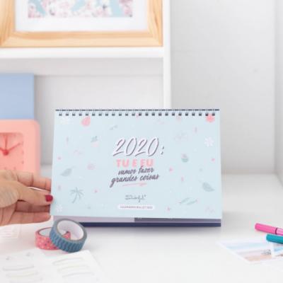 Calendário bullet - 2020: Tu e eu vamos fazer grandes coisas