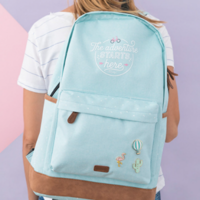 Mochila mint - The adventure starts here (ENG)