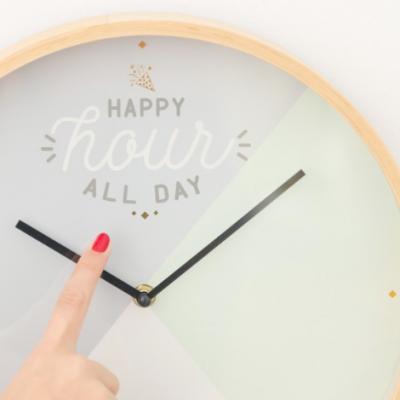 Relógio de parede Happy hour all day