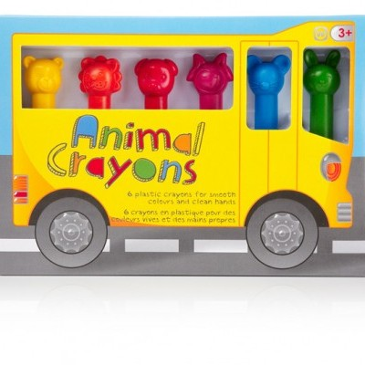 Animal Crayons - 6 Pack