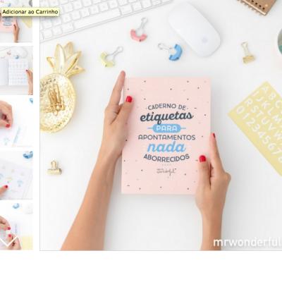 Caderno etiquetas | Para apontamentos nada aborrecidos
