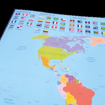 Descobre o mapa mundo e as bandeiras