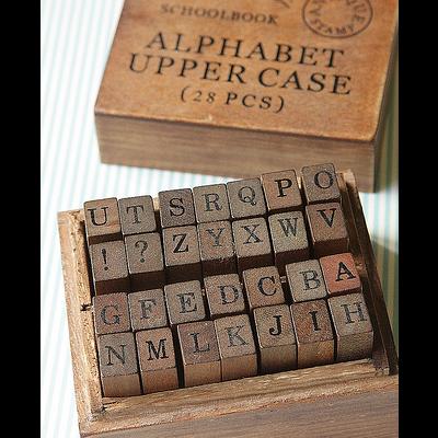 Stamp Alphabet Set | Carimbos alfabeto