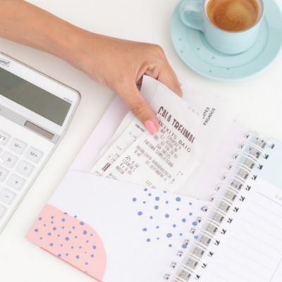 Caderno para guardar recibos - O meu melhor plano (e todos os recibos e faturas)