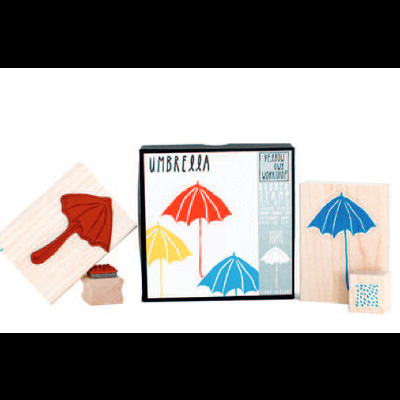 Stamp Umbrella + Rain