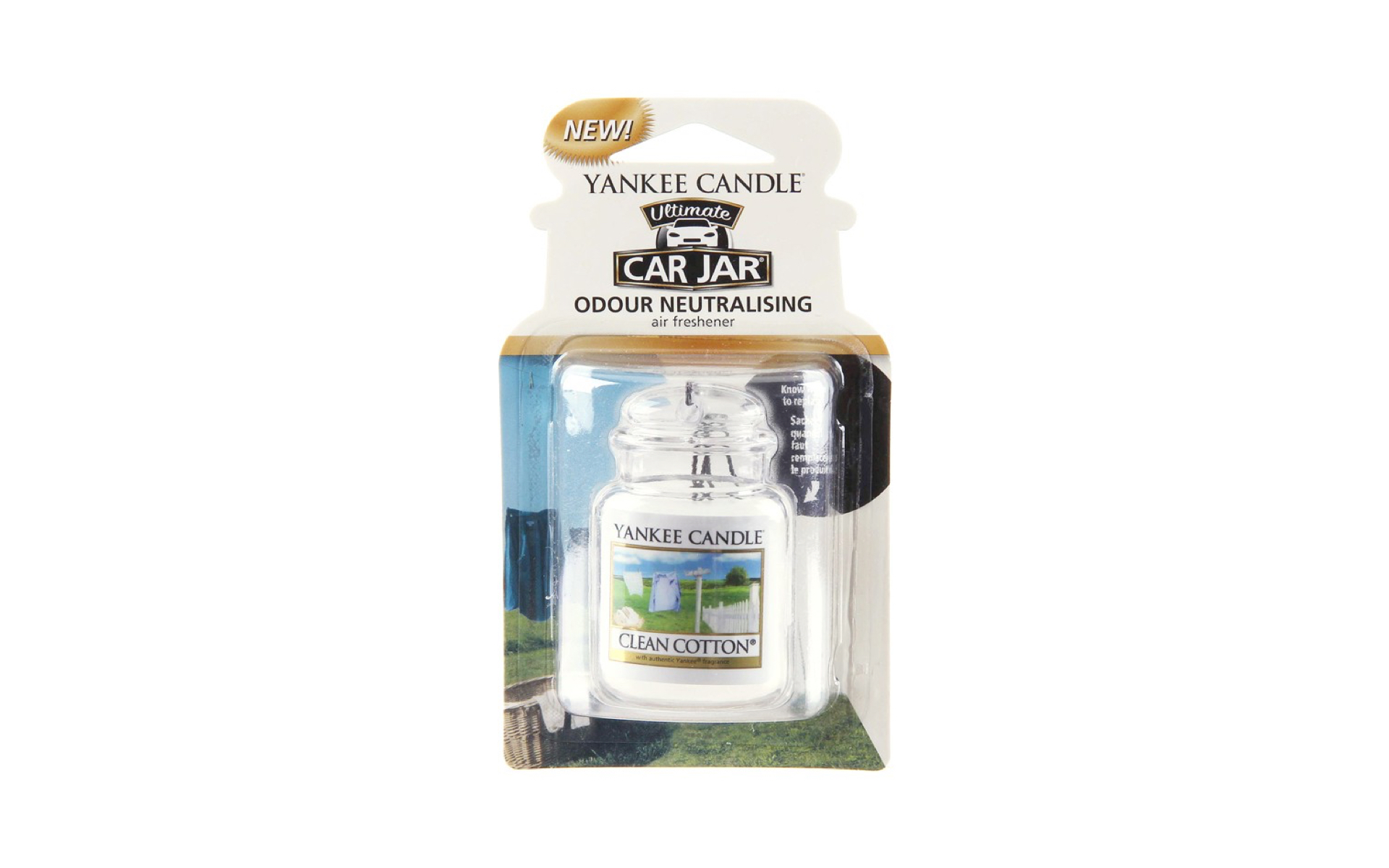 Yankee Candle Gel Carro Clean Cotton