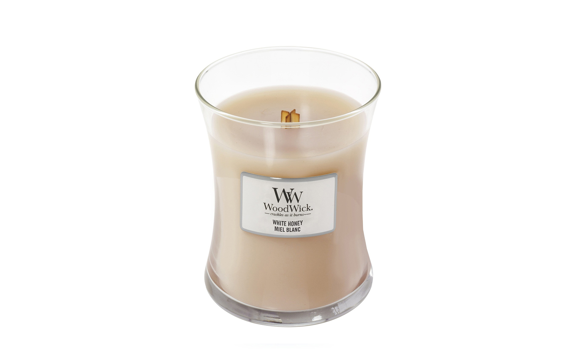 WoodWick Jarro Vela Perfumada White Honey