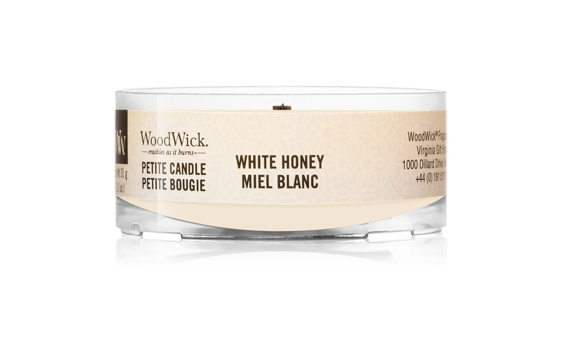 WoodWick Vela Petite White Honey