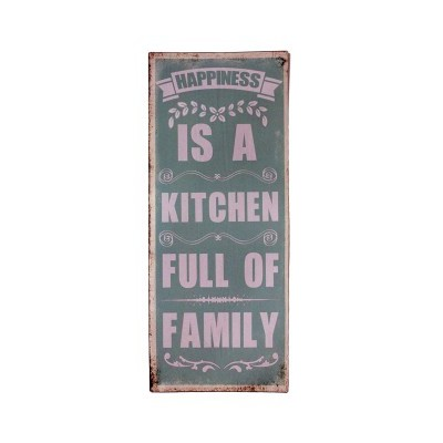 """Placa Parede """"Happiness is a ..."""""""