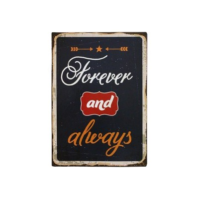 "Placa Parede ""Forever and always"""