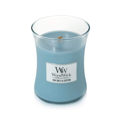 WoodWick Jarro Vela Perfumada Sea Salt & Cotton