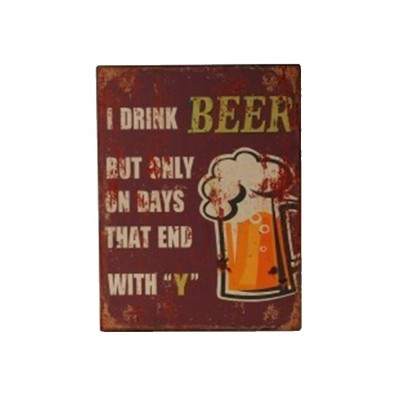 "Placa Parede ""Beer"""