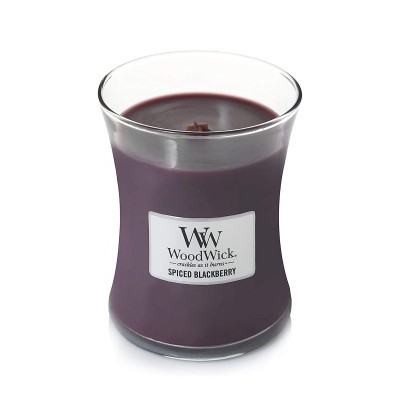 WoodWick Jarro Vela Perfumada Spiced Blackberry