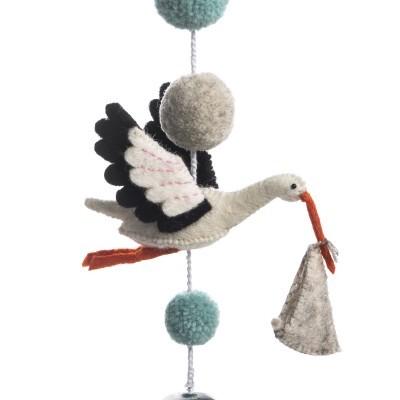 Sew Heart Felt - Mobile Ezra the Stork