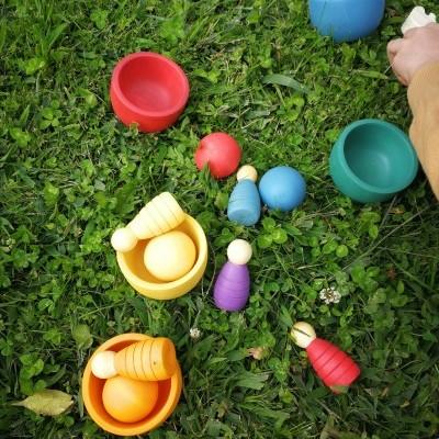 Rupy Toys - Taças com bolas coloridas