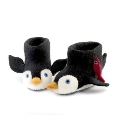 Sew Heart Felt - Pantufas (1-2 anos) Pete Penguin