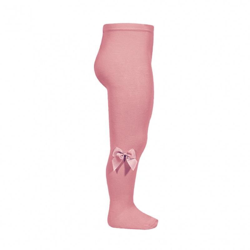 Collant com laço rosa tamarisco
