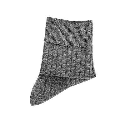 Meia curta canelada em lã
