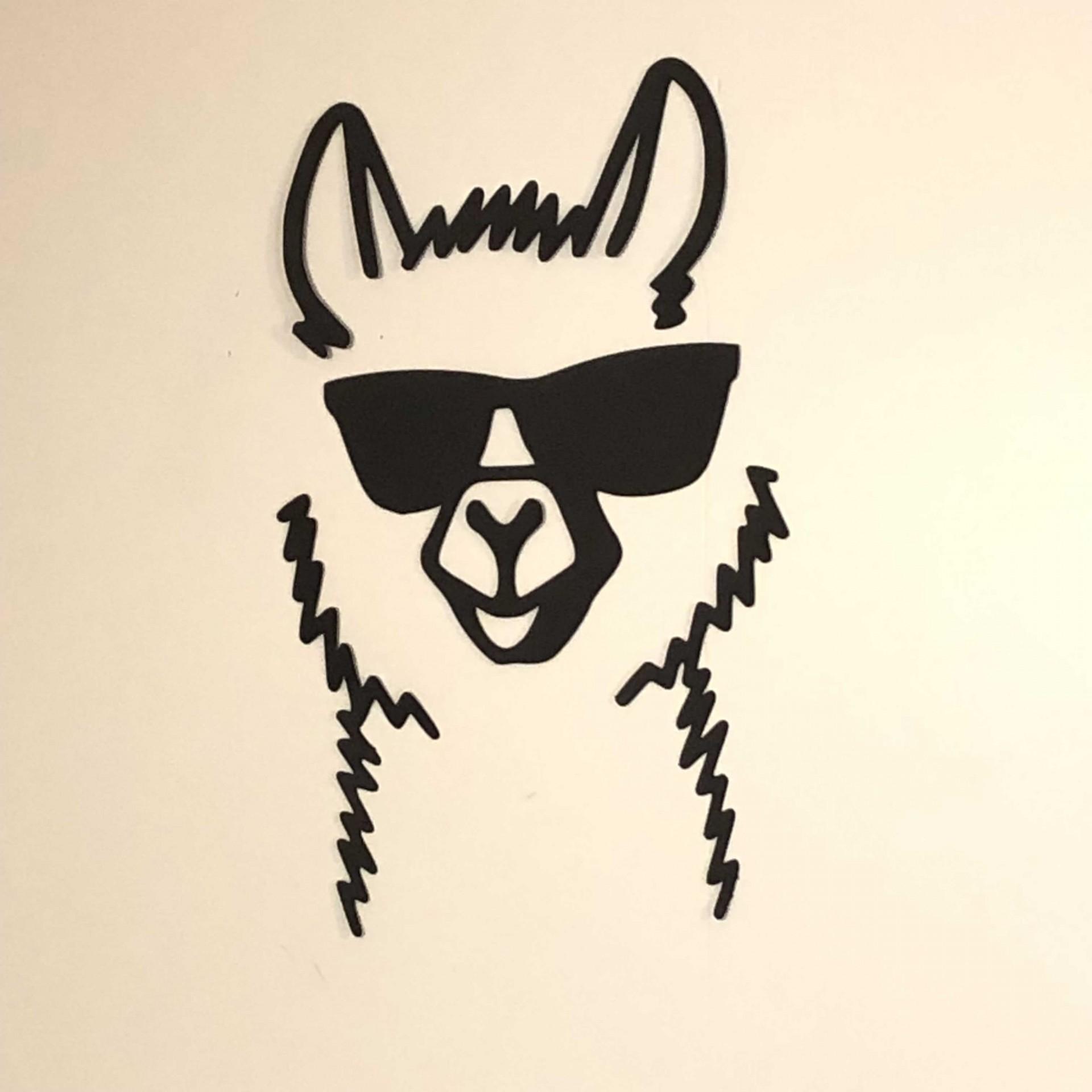 Painel Lhama ( Lama ) com óculos escuros
