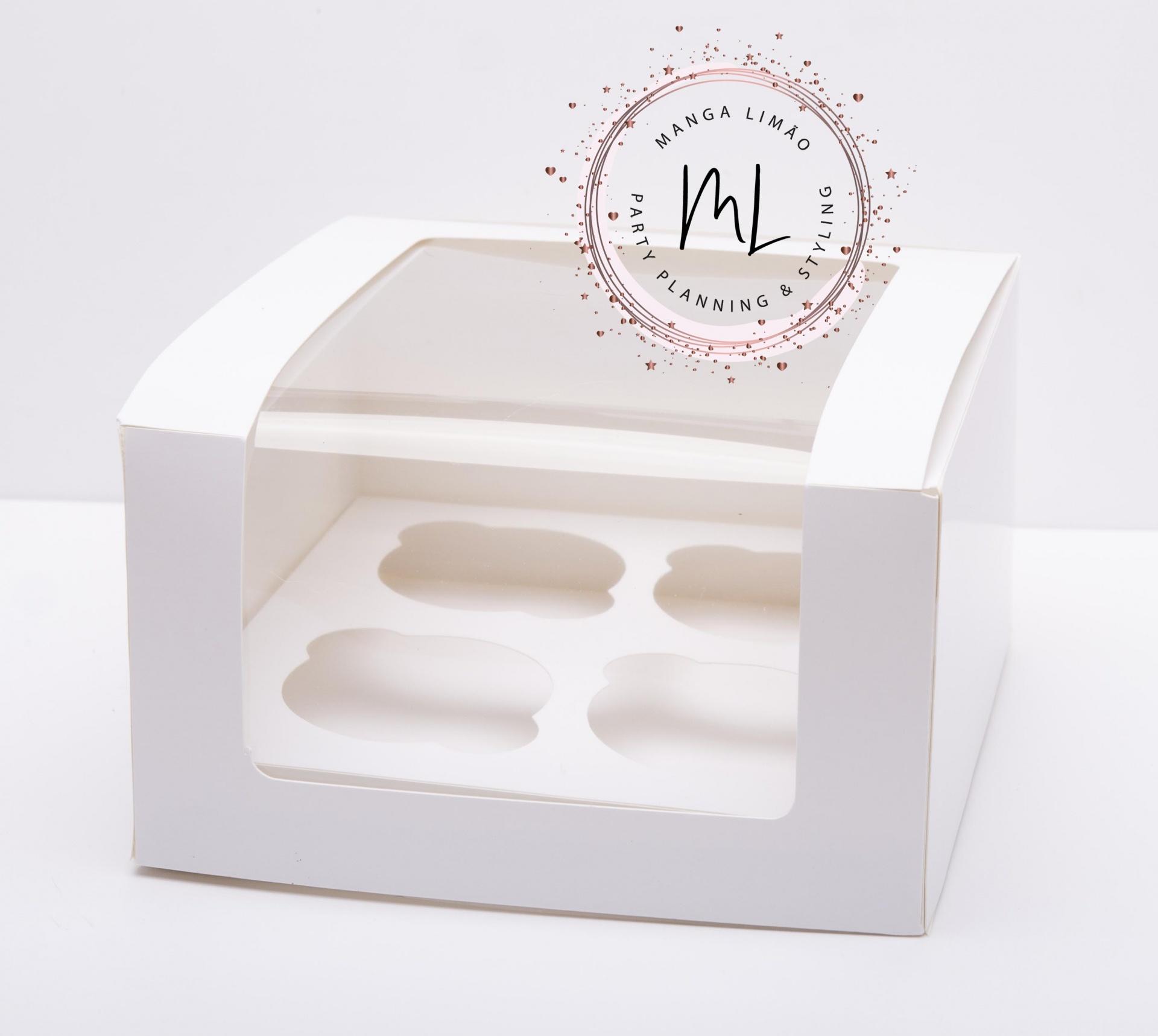 Caixa para 4 Cupcakes