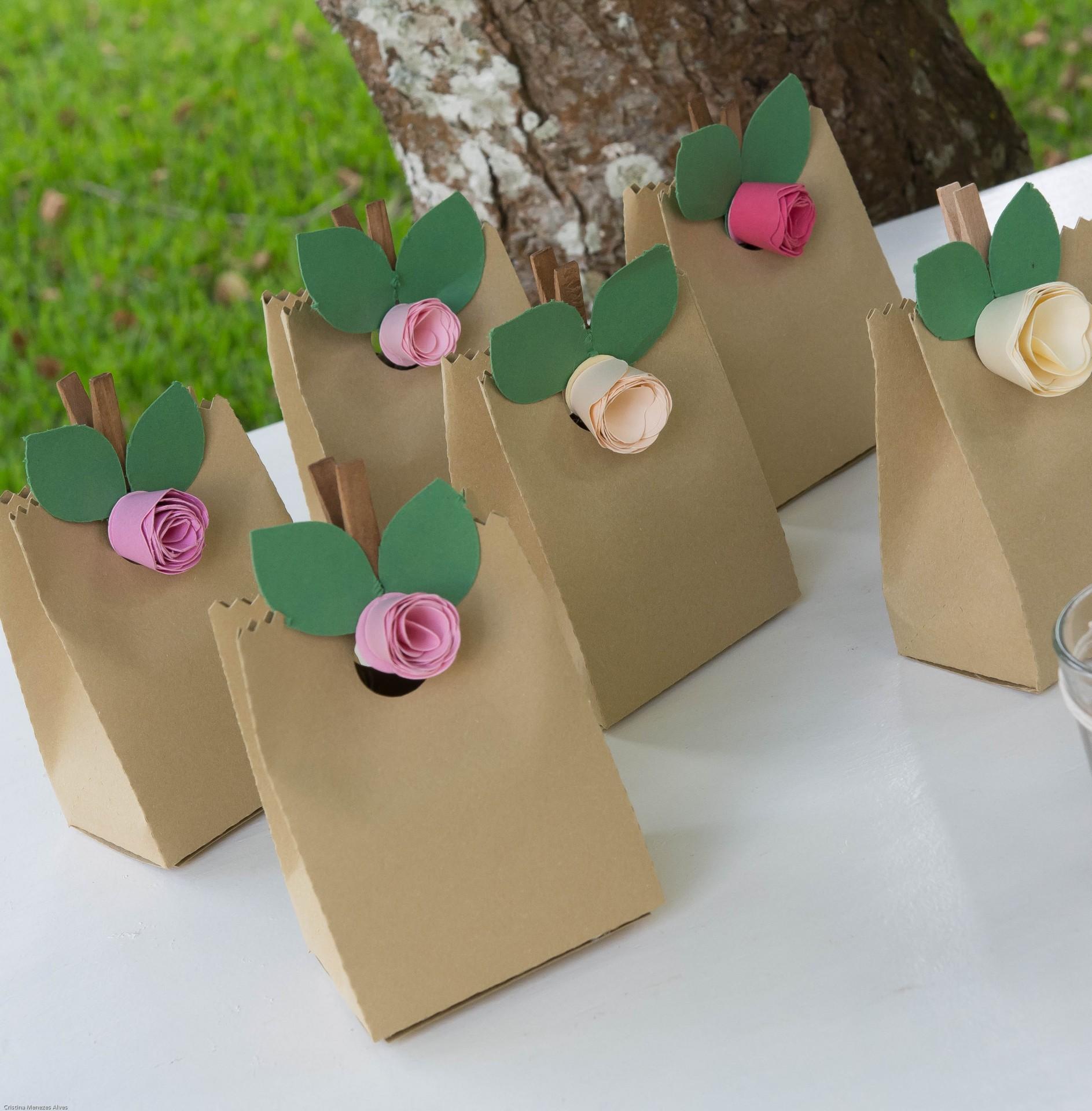 Embalagem com Flor