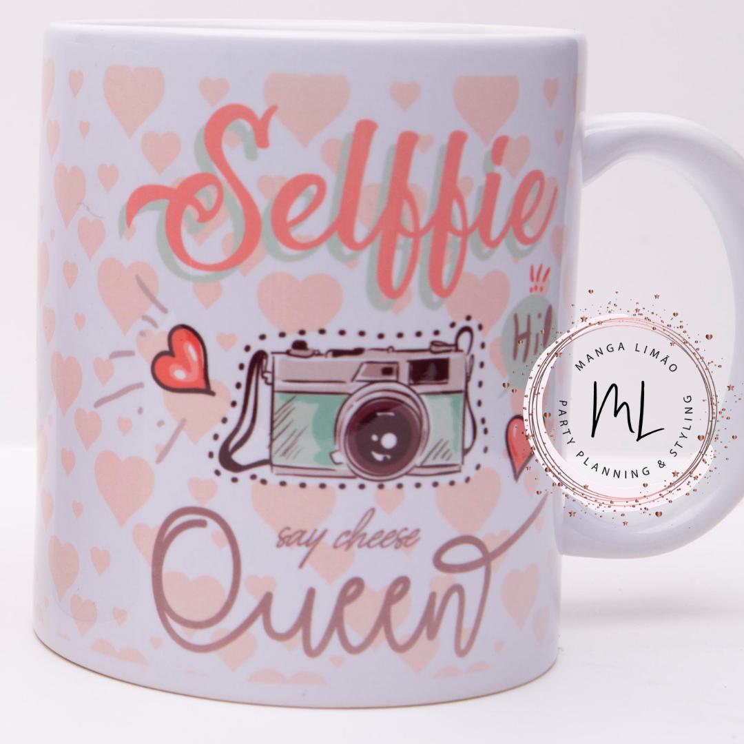 Caneca 'Selfie Queen'